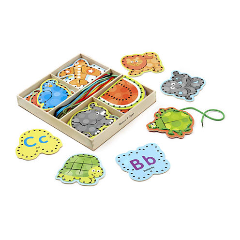 Melissa & Doug Alphabet Lacing Cards