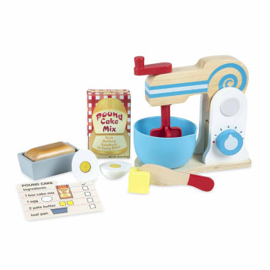 jcpenney.com | Melissa And Doug 10-Pc. Play Wooden Make A Cake Mixer Set Food