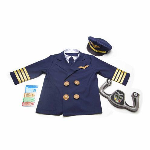 Melissa And Doug 6-Pc. Pilot Role Play Set Dress Up Costume