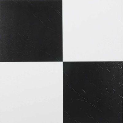Nexus Black & White 12x12 Self Adhesive Vinyl Floor Tile - 20 Tiles ...