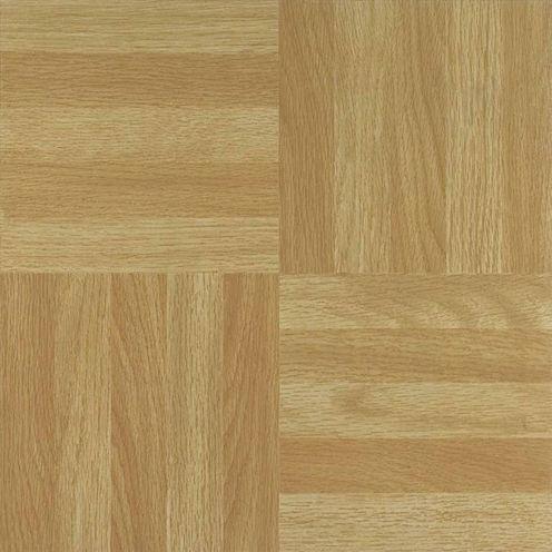 Nexus Four Finger Square Parquet 12x12 Self Adhesive Vinyl Floor Tile - 20 Tiles/20 Sq Ft.