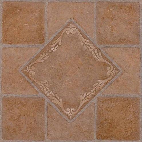 Nexus South West Ceramic 12x12 Self Adhesive Vinyl Floor Tile - 20 Tiles/20 Sq Ft.