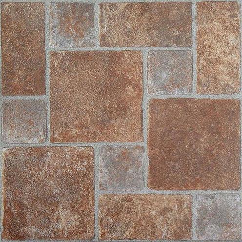 Nexus Brick Pavers 12x12 Self Adhesive Vinyl Floor Tile - 20 Tiles/20 Sq Ft.