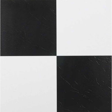 jcpenney.com | Tivoli Black & White 12x12 Self Adhesive Vinyl Floor Tile - 45 Tiles/45 Sq Ft