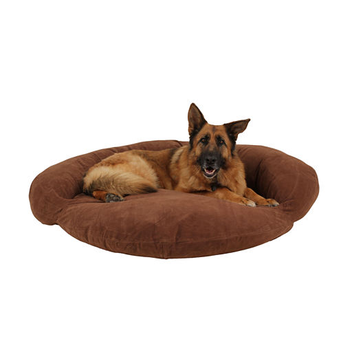 Carolina Pet Company Velvet Microfiber Bolster Bed