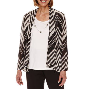 jcpenney.com | Alfred Dunner Theatre District Zigzag Herring 2Fer Layered Top