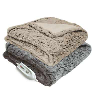 jcpenney.com | Serta Faux Fur Heated Electric Blanket