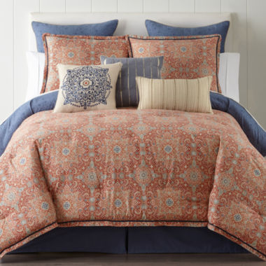 jcpenney home adeline 4-pc. comforter set & accessories - jcpenney