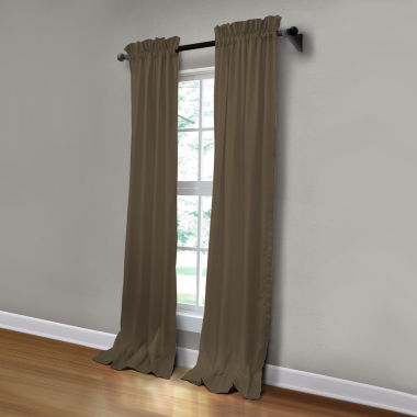 jcpenney.com | JCPenney Home Made-To-Length Matte Satin Rod-Pocket Unlined Curtain Panel