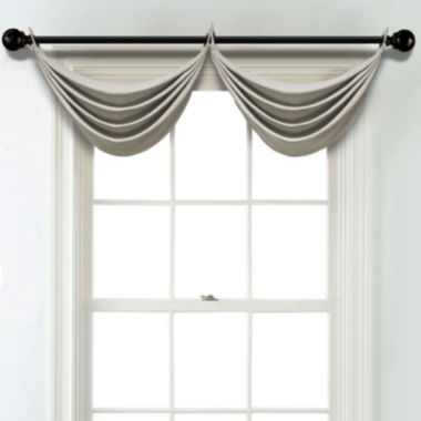 jcpenney.com | JCPenney Home Textured Blackout Grommet Poly-Cotton Lined Waterfall Valance