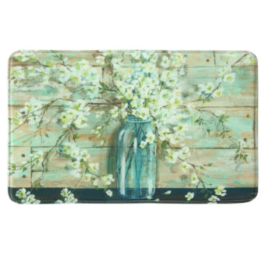 jcpenney.com | Bacova Guild Blossoms In Jar Printed Rectangle Anti-Fatigue Rugs