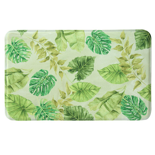 Bacova Guild Tropical Leaves Rectangular Kitchen Mat