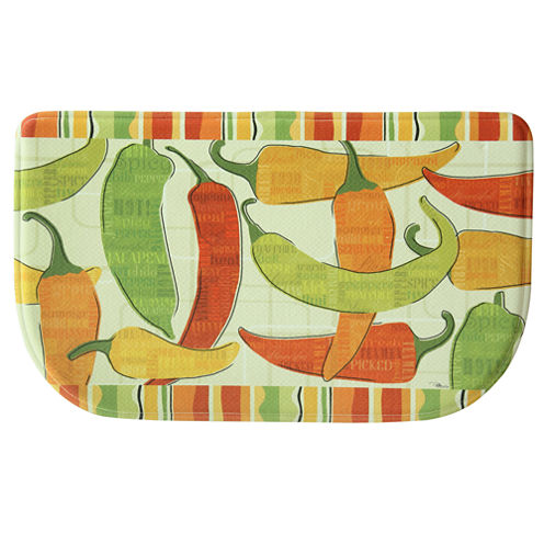 Bacova Guild Spicy Peppers Wedge Kitchen Mat