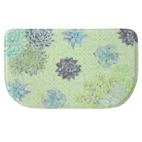 Bacova Guild Succulent And Moss Wedge Kitchen Mat