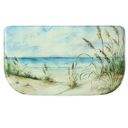 Bacova Guild Coastal Landscape Wedge Kitchen Mat