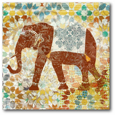 jcpenney.com | Global Elephant Canvas Wall Art