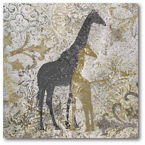 Giraffes Exotiques Canvas Wall Art