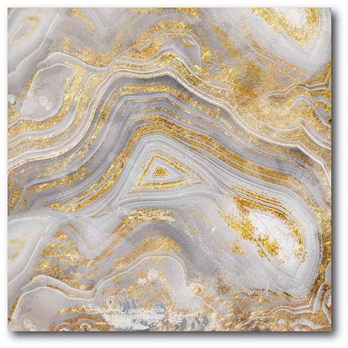 Golden Agate Canvas Wall Art
