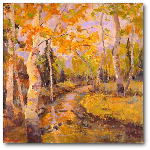 Golden Trees I Canvas Wall Art