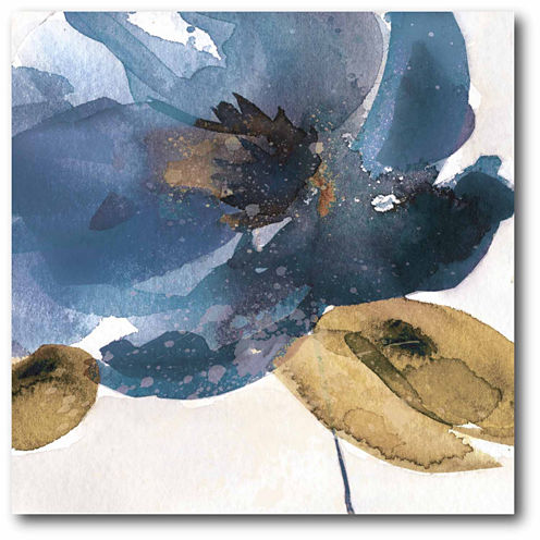 Watercolor Flower Blue Canvas Wall Art
