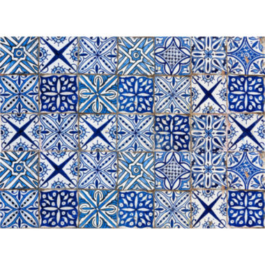 jcpenney.com | Brewster Blue Azulejos Kitchen Panel Decal