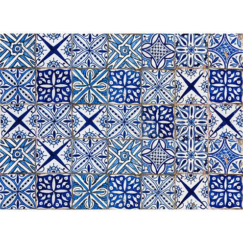 Brewster Blue Azulejos Kitchen Panel Decal