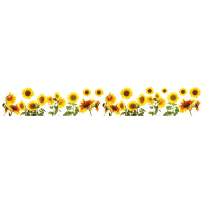 Brewster Wall Sunflower Borders Wall Decal Color Yellow