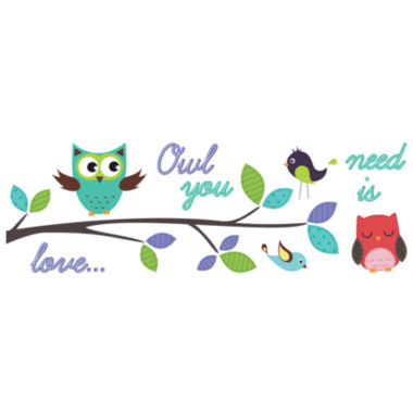 jcpenney.com | Brewster Wall Owl You Need Is Love Wall Decals