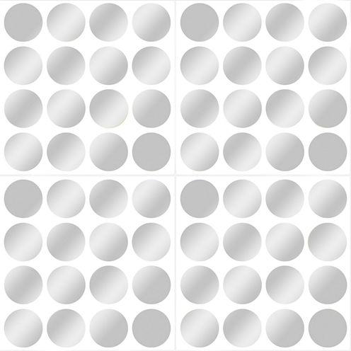 Wall Pops Silver Confetti Dots Set