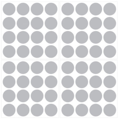 jcpenney.com | Wall Pops Metallic Silver Confetti Dots Decals