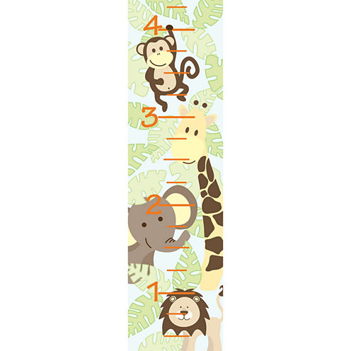 Wall Pops Jungle Friends Growth Chart Decal