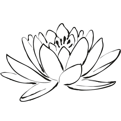 Brewster Wall Lotus Flower Wall Decal