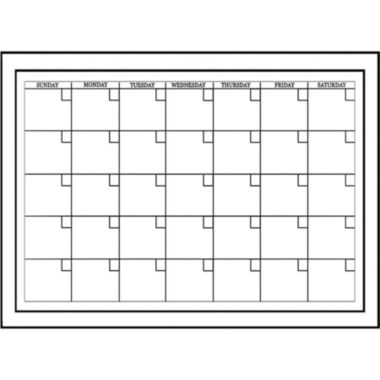 jcpenney.com | Wall Pops Peel & Stick White Board with Marker Monthly Calendar Decals