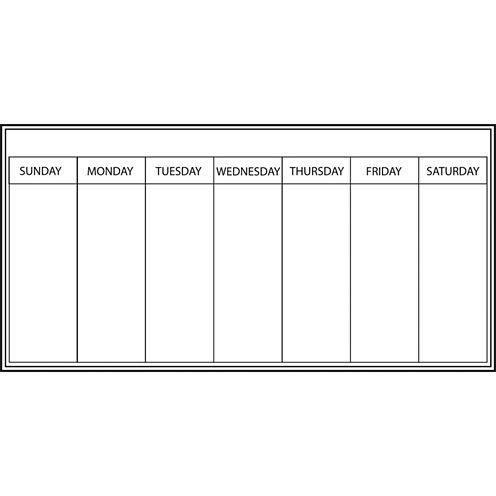 Wall Pops Dry Erase Peel & Stick Whiteboard Dry-Erase Weekly Calendar -Set of 2
