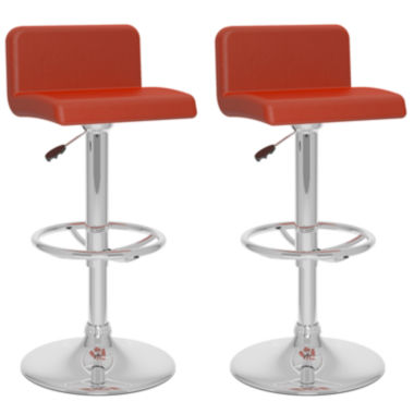jcpenney.com | 2-Pc. Low Back Adjustable Barstools
