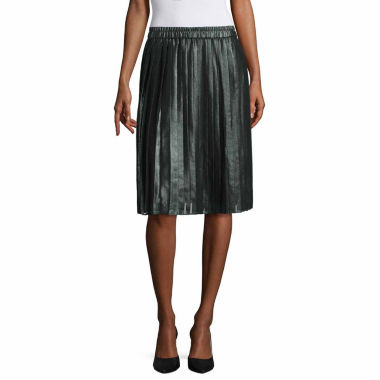 jcpenney.com | Liz Claiborne Solid Woven Pleated Skirt