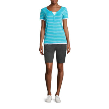jcpenney.com | Made for Life™ Short-Sleeve Layered T-Shirt or Woven Bermuda Short