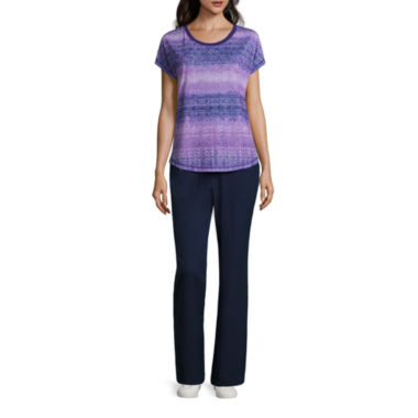jcpenney.com | Made for Life™ Short Sleeve Lattice Sublimation Print Tee or Woven Slant Pocket Pants