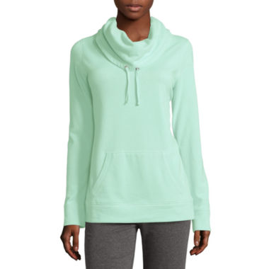 jcpenney.com | Made for Life™ Long-Sleeve Fleece Cowlneck Top