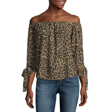 jcpenney.com | i jeans by Buffalo Tie Sleeve Off Shoulder Top