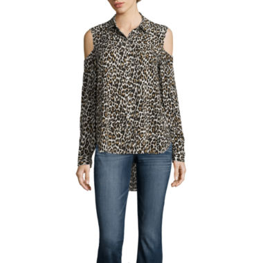 jcpenney.com | A.N.A Tab Modern Fit Long Sleeve Print Button-Front Shirt
