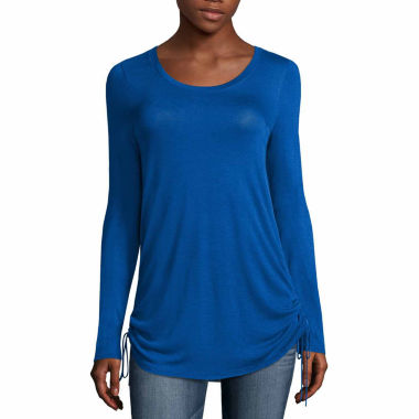 jcpenney.com | a.n.a Long Sleeve Rayon Blouse