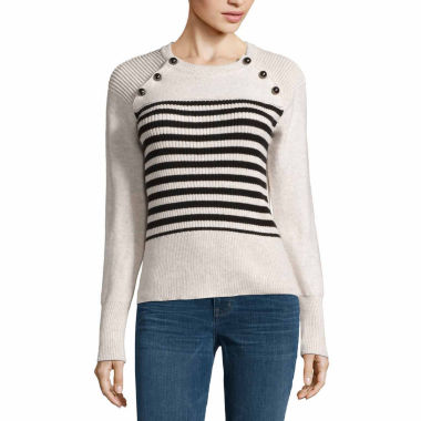 jcpenney.com | a.n.a Long Sleeve Front Buttons Pullover Sweater