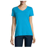 St. John's Bay Short Sleeve V Neck T-Shirt
