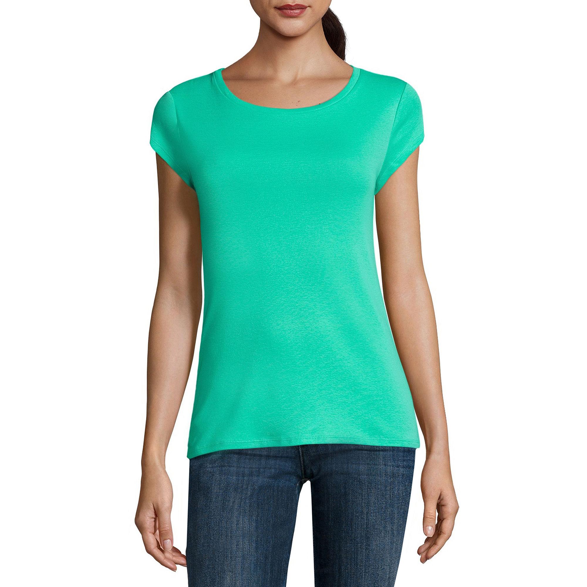 Liz Claiborne Short Sleeve Crew Neck T Shirt Women's   Top and Clothing