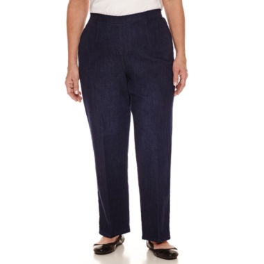 jcpenney.com | Alfred Dunner Woven Flat Front Solid Pant Medium