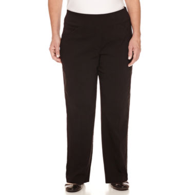 jcpenney.com | Alfred Dunner Woven Flat Front Pants-Plus