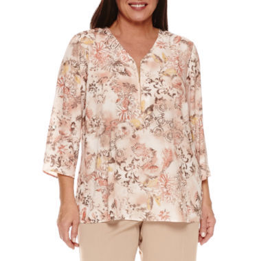 jcpenney.com | Alfred Dunner Just Peachy Tunic Top Plus