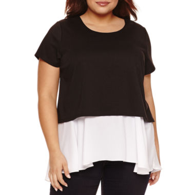 jcpenney.com | Boutique + Short Sleeve Scoop Neck T-Shirt-Plus