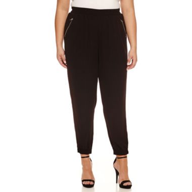 jcpenney.com | Boutique + Knit Track Pants-Plus